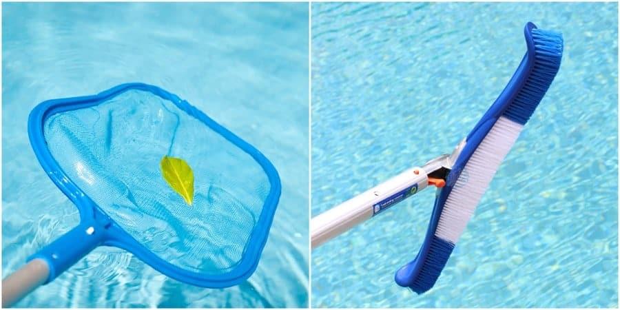 Pool Brushing Skimming and Vacuuming